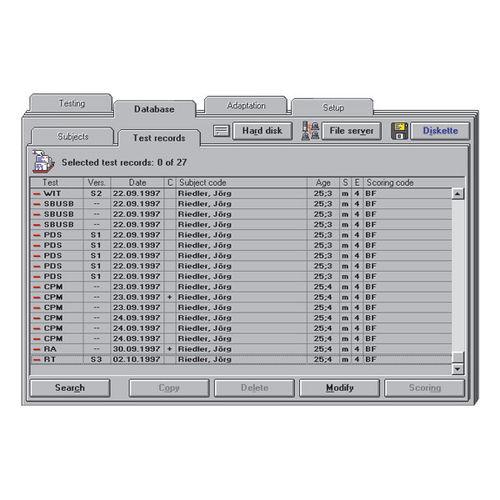 test software / hospital / server