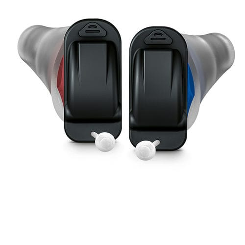 CIC hearing aid / remote-controlled