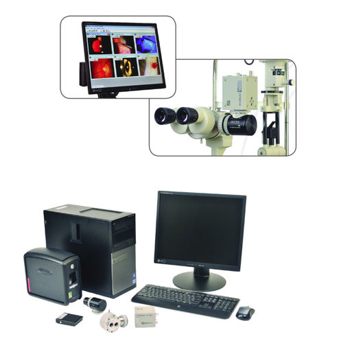 slit lamp camera / digital / with screen / with video processor