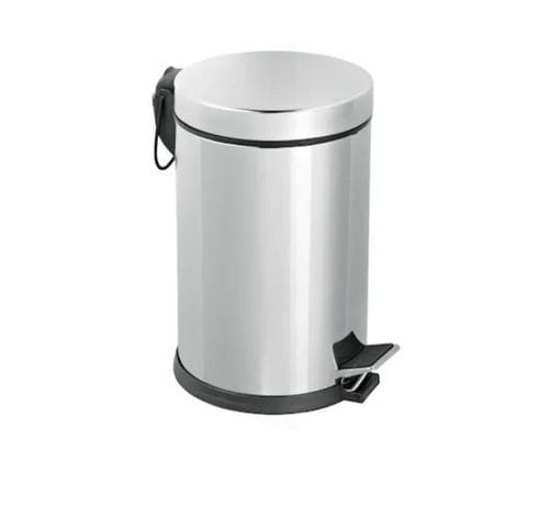 stainless steel waste bin / foot-operated