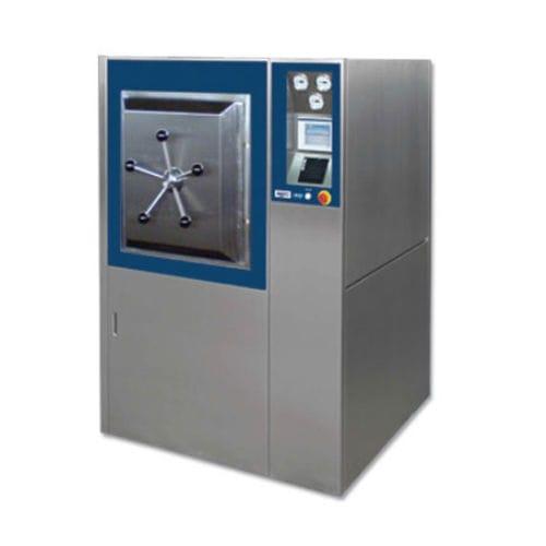 laboratory autoclave / floor-standing / horizontal