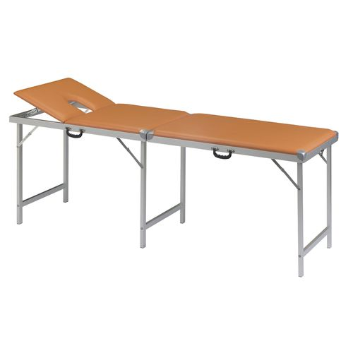 manual massage table / portable / 2-section