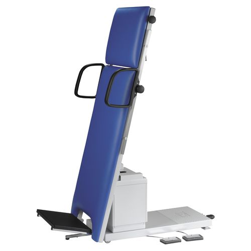 2 sections tilt table / phlebology / height-adjustable / on casters