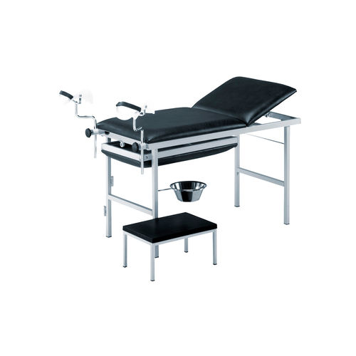 gynecology examination table / manual / fixed-height / 3-section