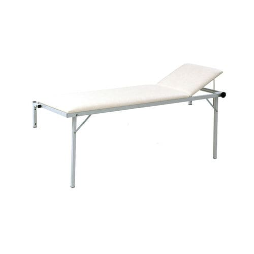 manual examination table / fixed-height / folding / 2-section