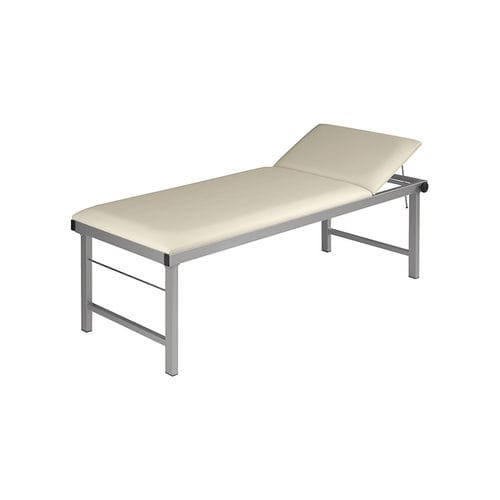 manual examination table / fixed-height / 2-section / bariatric