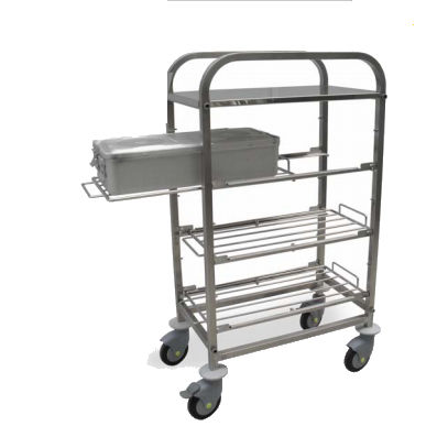 transport trolley / for instruments / with shelf / medical