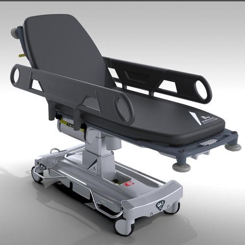 patient transfer stretcher trolley / electric / height-adjustable / Trendelenburg