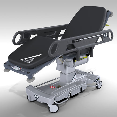 patient transfer stretcher trolley / electric / height-adjustable / Trendelenburg
