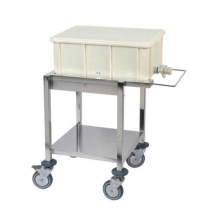 transport trolley / sterilization / for surgical instruments / stainless steel