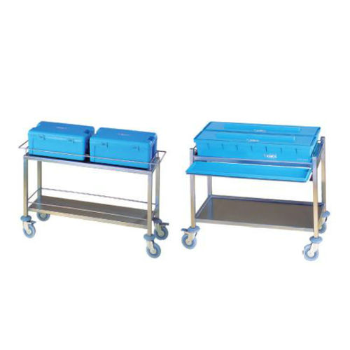 transport trolley / sterilization / for instruments / stainless steel