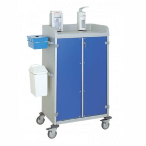 multi-function trolley / for general purpose / with waste bin / 2-door
