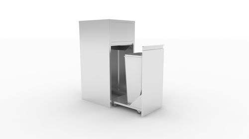 cabinet with waste compartment