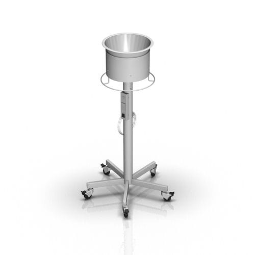 single basin stand / stainless steel / heated