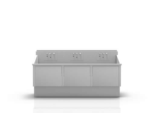 3-station surgical sink