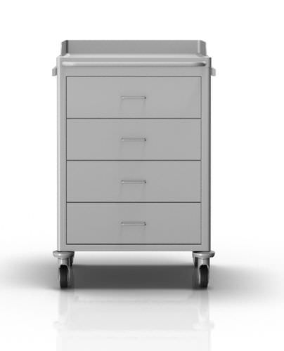 anesthesia trolley / transport / catheter / with drawer