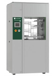 laboratory washer-disinfector / floor-standing / front-loading / automatic