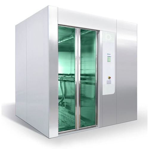 high-capacity washer-disinfector / with automatic door