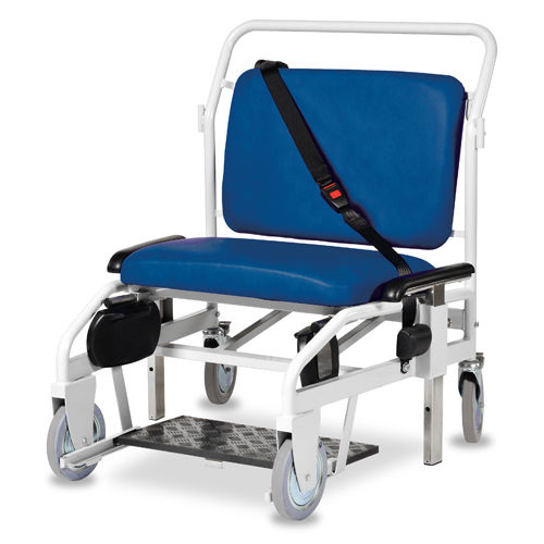 indoor patient transfer chair / outdoor / on casters / bariatric