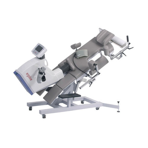 cardiology examination table / electric / height-adjustable / with pedal ergometer