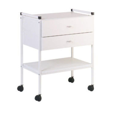 multi-function trolley / for general purpose / with drawer / 2-tray