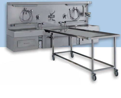 wall-mount mortuary washing unit