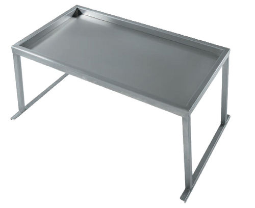 instrument table with shelves / stainless steel