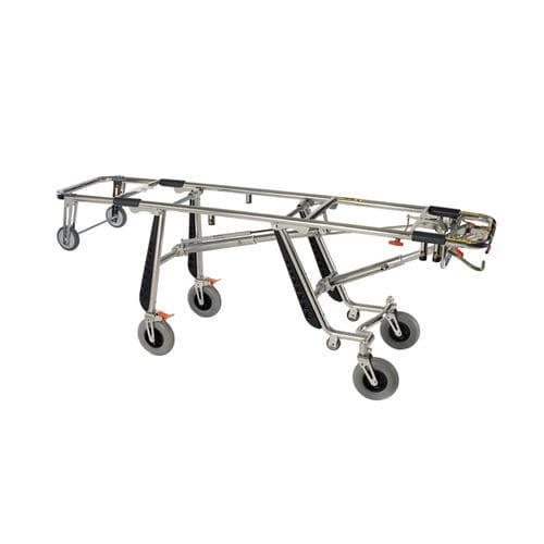 manual stretcher trolley / self-loading / mortuary / 1-section