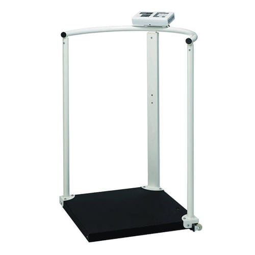 electronic patient weighing scale / for wheelchairs / with LCD display / column type
