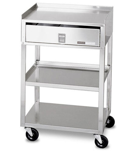 multi-function trolley / for linen / with drawer / 3-tray