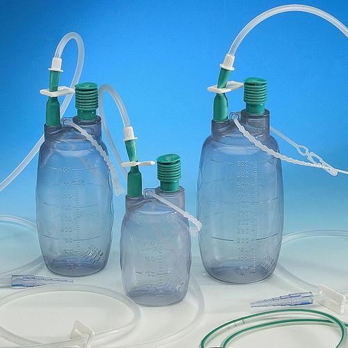 wound drainage set / single-chamber