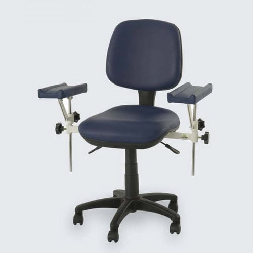 manual blood donor chair / on casters / height-adjustable