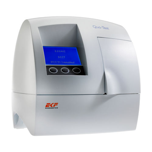 POC glycated hemoglobin analyzer / human / bench-top / for diabetes