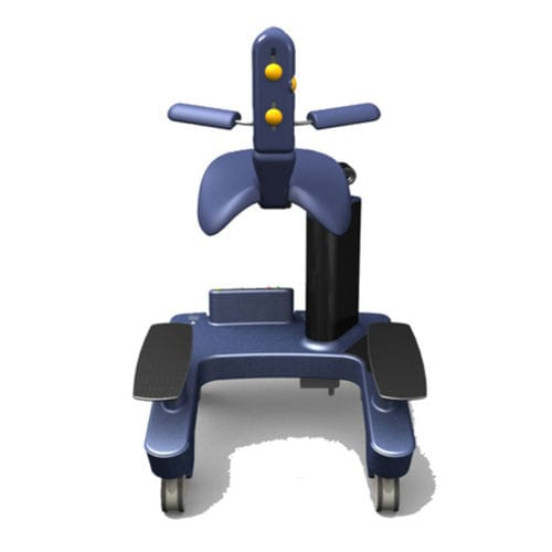 doctor's office stool / surgical / with armrests / on casters