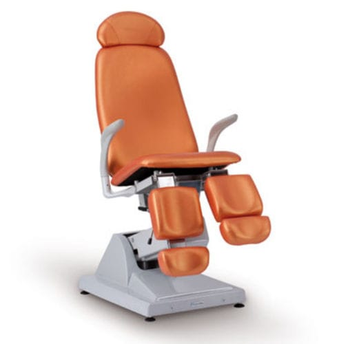 podiatry examination chair / electropneumatic / height-adjustable / 3 sections