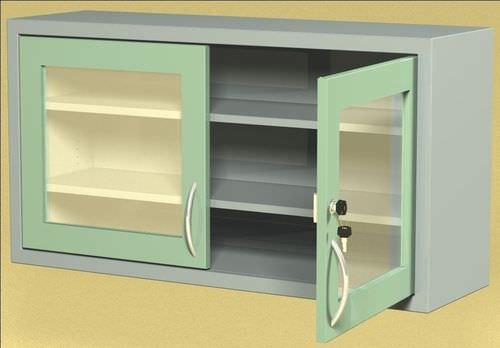 doctor's office cabinet / 2-door / 3-drawer / wall-mounted