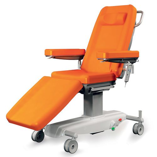electric treatment chair / 3-section / on casters / height-adjustable