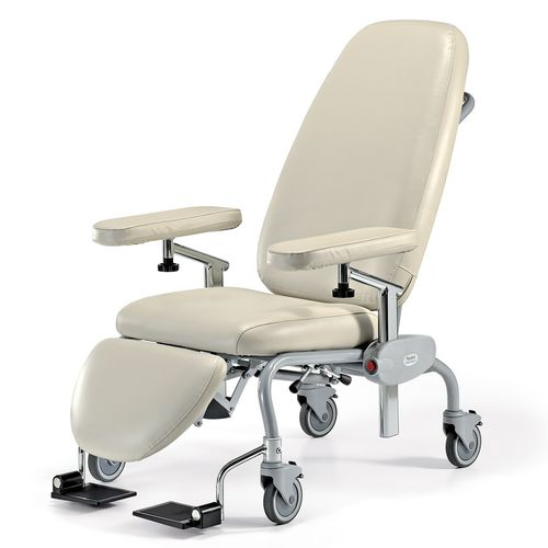 manual blood donor chair / 3-section / on casters / with legrest