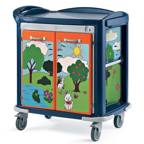 multi-function trolley / for general purpose / 2-door / pediatric
