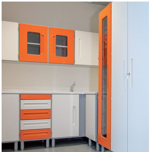 medicine cabinet / hospital / with drawer / with door