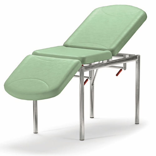 manual examination table / fixed-height / 3 sections / ergonomic
