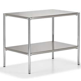 stainless steel instrument table / 2-shelf