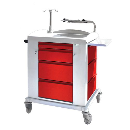 multi-function trolley / emergency / with drawer / 4-drawer