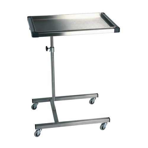 Mayo table on casters
