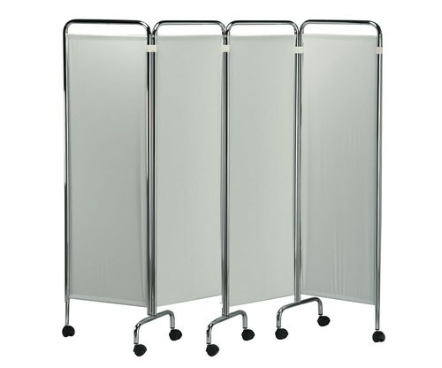 hospital screen on casters / 4-panel