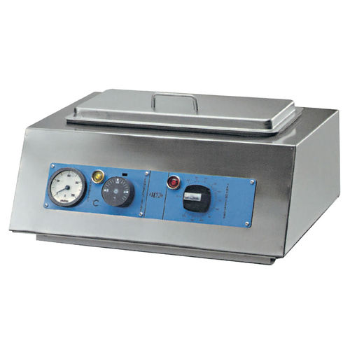 medical sterilizer / dry heat / bench-top / stainless steel