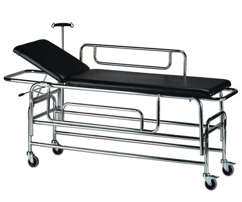 transport stretcher trolley / manual / with adjustable backrest / 2-section
