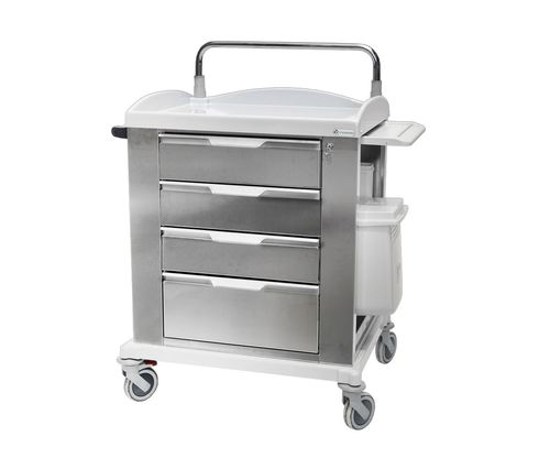 multi-function trolley / 4-drawer / with shelf / with tray