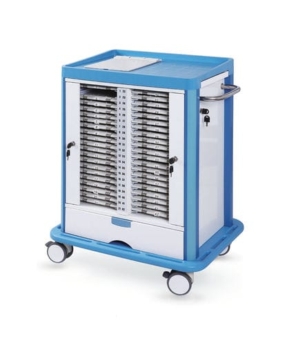 service trolley / treatment / for medical records / 1-drawer