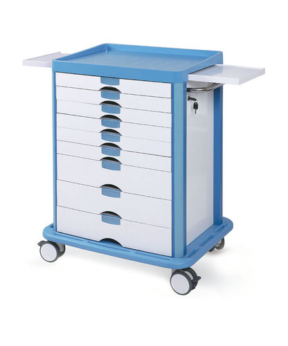 multi-function trolley / 9-drawer / with tray / with waste bin